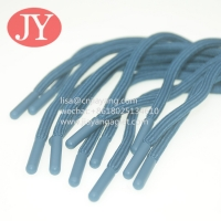 China JiaYang high quality round athletic shoelace/cotton shoe laces with plastic tips eco-friendly ABS/TPU plastic aglets wholesale