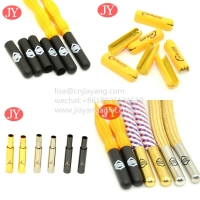 China Brass material shoelace aglets metal tips for polyester lace metal buckle wholesale