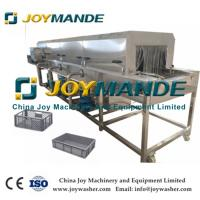 China Commercial Use High Efficiency Food Tray Plate Washing Cleaning Machine on sale