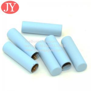 China Jiayang shoelaces gold aglets Black color tube shape seamless custom aglet with print logo wholesale