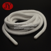 China round cotton string injection plastic aglets for bags/hoodies/hats/sportswear drawstrings cord end wholesale