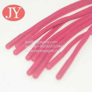China Jiayang Soft TPU plastic tipping eco-friendly not glue tipping plastic aglets cap rope injection aglet wholesale