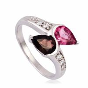 China Fashionable Crystal Silver Rings K-BC-A533 wholesale