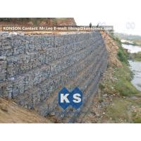 China Defense Gabion Retaining Wall Hexagonal Wire Mesh with Galvanized Wire 2.7MM wholesale