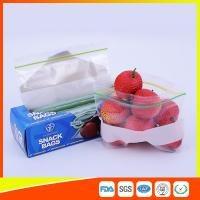 China LDPE Transparent Resealable Press Zip Snack Ziplock Bags Air Proof For Packaging on sale