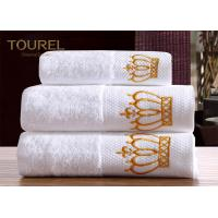 China Washcloth Hotel Towel Set  White 100% Cotton Hotel Bath Towels on sale