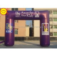 Buy cheap Event Nylon Fabric Custom Purple Inflatable Race Arch With Banners 13ft - 50ft Wide product