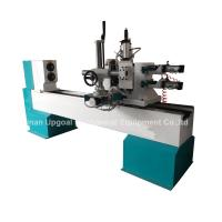 Quality Turning Broaching Engraving Wood Lathe Machine with Double Axis Double Blade for sale