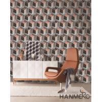 Buy cheap Fashion PVC 3D Home Wallpaper for Living Room Germetric Pattern Design from wholesalers