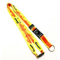 China Yellow Red Dye Sublimation Lanyards Sport Competition Activity Event Key Ring on sale