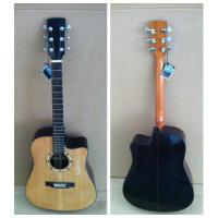 China black / white Spruce Solid Wood Acoustic Guitar with cupronickel Fret TP-AG85 wholesale