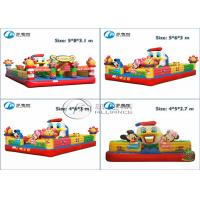 China kids inflatable toys 4*6*3m small air inflatable castle with CE blower wholesale