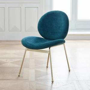 China Modern round back velvet upholstery dining chair for home restaurant wholesale