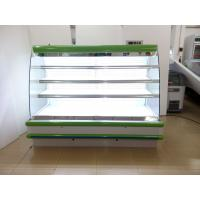 China Coated Steel Body Open Deck Chillers 8ft Long Vegetable / Meat Refrigerated Showcase wholesale