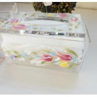 Quality Acrylic Tissue Box , Acrylic napkin case with beautiful silk printing for sale