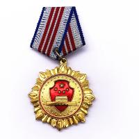 China Plating Gold Brass Custom Metal Medals , Custom Award Medals For Souvenir wholesale
