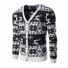 China V Neck Ugly Christmas Sweater Long Sleeve Cool Men Knit Xmas Cardigan wholesale