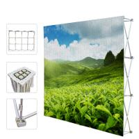 China Portable Trade Show Backdrop Stand Various Shapes Detachable Frame 250g Fabric wholesale