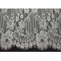 Buy cheap Ivory Elegent Floral Chantilly Eyelash Double Edged Lace Trim With Eyelash from wholesalers
