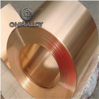 China Mechanical Resistance Pure Copper Foil C11000 C1221 0.1mm - 1.2mm Thickness For Electric Springs wholesale
