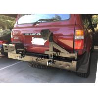 China Rolled Steel 4x4 Rear Bumper With Spare Tire Holder For 92 - 97 Land Cruiser FJ80 Series LC80 LX450 wholesale