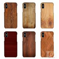 Buy cheap Customized Wood Printed mobile phone shell For iPhone X , 3D sublimation blank from wholesalers