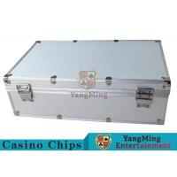 Easy To Carry Casino Game Accessories Aluminum Round Chip Case With Handle