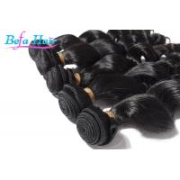 China 100% Virgin Natural Black Loose Wave Hair Weave With Full Cuticles Intact wholesale