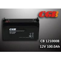 China Sealed CB121000B 12V 100Ah Rechargeable Lead Acid Battery Power Back up Application wholesale