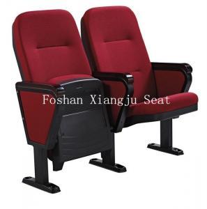 China Fabric Cushion Spring Return Auditorium Chairs / Cinema Seating With Writing Pad on sale