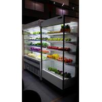 China Full Glass Small Multideck Fridge Fruits Dispaly Showcase For Convenient Store wholesale