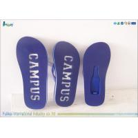 China OEM Leisure Blue EVA Beach Slipper PVC Strap With Bottle Opener wholesale