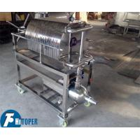 China Stainless Steel Plate Frame Chemical Filter Press For Solid Liquid Separation on sale