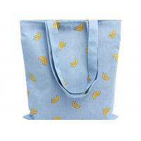 China Banana Printed 12 Oz Natural Custom Canvas Bags Reusable Ideal for Groceries , Shopping wholesale