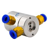 China 0.1N.m Low Torque Slip Ring of 2 Channels Pneumatic Rotary Joint Routing Compressed Air wholesale