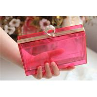 Quality Red Party acrylic makeup storage boxes / perspex boxes Eco-Friendly for sale