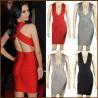 China High Quality Sexy New Fashion Design Celebrity Wholesale Sleeveless Beading Elastic Bandage Dress wholesale