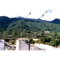 China Large Span Steel Suspension Cable Stay Bridges With Rock Anchors wholesale