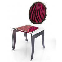 China Clear Acrylic Baroque Chair With Artwork , Modern Acrylic Furniture wholesale