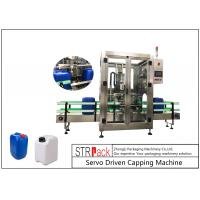 China 5L - 25L Plastic Drum Bottle Capping Machine With Full Automatic Single Head 750pcs / Hour wholesale