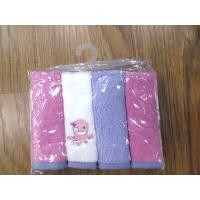China 4Pk soft baby face cloth on sale