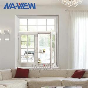 China Crank Out White Aluminium Casement Windows PVDF Frame wholesale