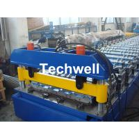 China Hydraulic cutting Metal Roofing Cold Roll Forming Machine 13 - 22 Stations TW27-195-780 wholesale