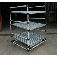 China Heavy Duty steel Pipe Rack with Caster Wheels , Lean Pipe and Black Pipe Joint Assemble wholesale