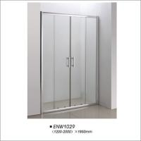 China Tempered Glass Shower Doors / Sliding Shower Screens With Frame Easy Installation on sale