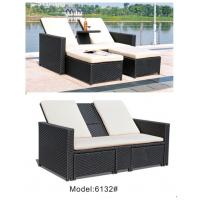 China 2 person double outdoor daybed with drink table indoor pool furniture  ---6132 wholesale