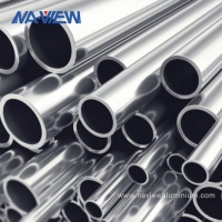 China 0.60mm Thickness Aluminum Tube Extrusion Profiles For Construction wholesale