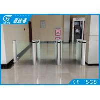 China Indoor Smart Speed  Half Height Turnstile Fault Detection With Led Indicator Light For Bank wholesale