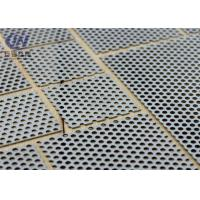 China Galvanized and Powder Perforated Metal Mesh Soundproof Silver Color on sale