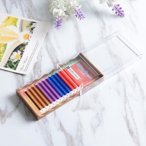 Buy cheap Mixed 4 Colors Full Set Eyelash Extensions , Individual Fake Eyelashes Hand Made from wholesalers